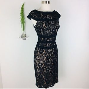 Adrianna Papell Gorgeous Black Lace Dress Size 10